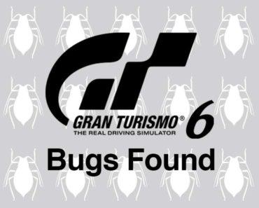 GT6 bugs