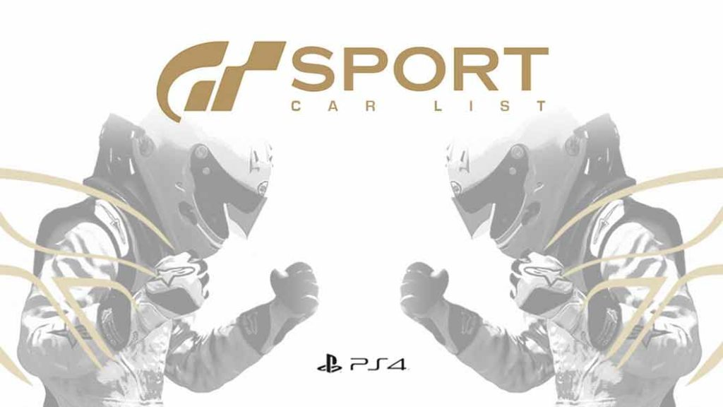 Gran Turismo Sport Car List Team Shmo