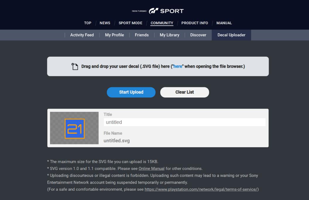 uploading gt sport svg decal - Team Shmo